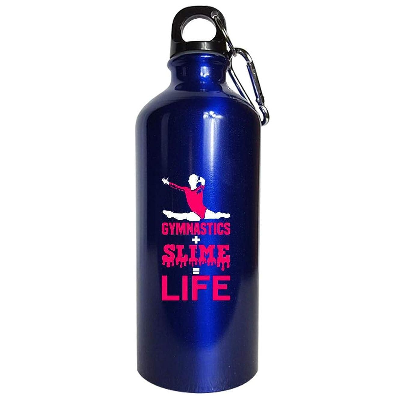 Gymnastics and Slime Is Life Sports Fan - Water Bottle Metallic Blue