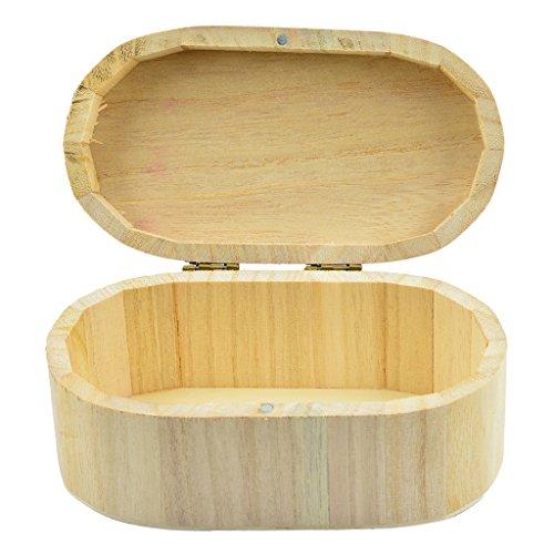 Sharplace Holzschatulle Holzkästchen Holzkiste Oval mit Deckel zum Bemalen für Aufbewahrung Schmuckkästchen Geschenkbox