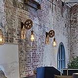 Wandleuchte E27 Vintage Wandlampe Retro Wandbeleuchtung Kreative Beleutung für Treppenhaus Flur Cafe Bar Restaurant Hotel (Bronze) - 6