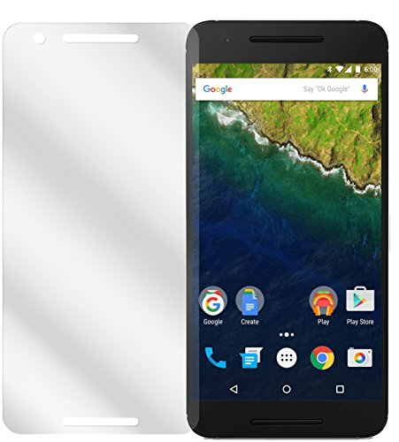 dipos I 6X Schutzfolie klar kompatibel mit Huawei Google Nexus 6P Folie Bildschirmschutzfolie