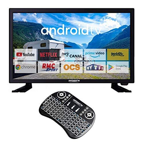 ANTARION Pack TV 19' 48 cm Televisor conectado + Smart Pad Teclado Ergonómico