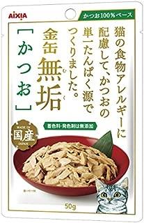 (まとめ買い)アイシア 金缶 無垢 かつお 50g 猫用 【×24】