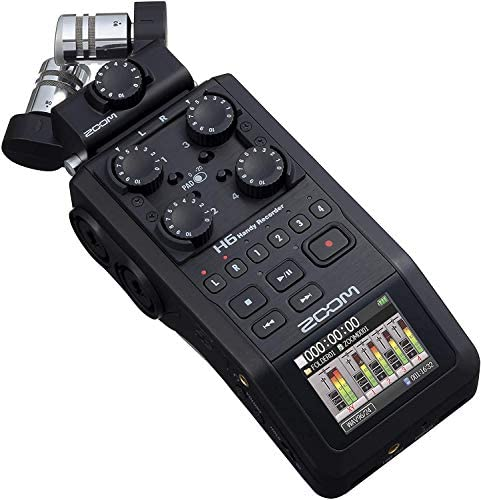 Zoom H6 All Black 2020 Version 6 Track Portable Recorder Stereo Microphones 4 XLR TRS Inputs product image