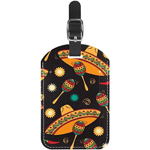 Etichette per bagagli per strumenti a percussione in pelle, confezione da 1