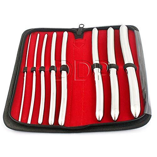 8 Pcs Set Hegar Uterine Dilator With A Carrying Case