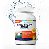"""Marine Essentials Anti Aging Omega 3 Supplements - """"Body Ready Omega"""" 5X DHA Supplements + EPA for Max EPA / DHA Omega 3 Health Supplements (60 Capsules)"""