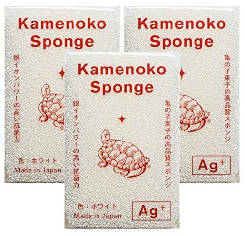 亀の子スポンジ ホワイト 3個セット