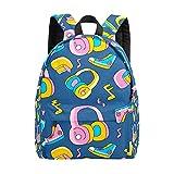 Mochila para adolescentes y niños, Funky Head Phone School Bookbag ocio mochila de viaje de trabajo