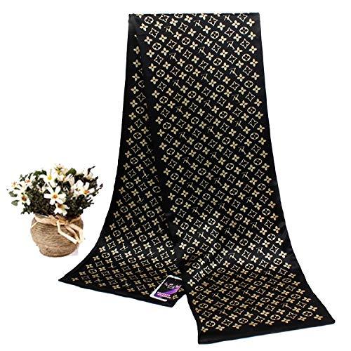 Schal New Silk Herren Business Silk Long Mulberry Silk Double Side Plaid Schal