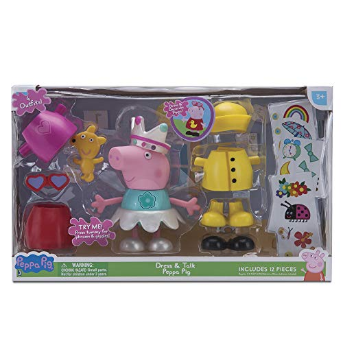 Peppa Pig - Figura/Pack Peppa Vestidos Divertidos