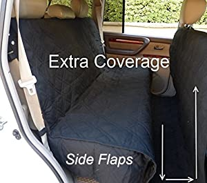 Pettom XX-Large Car Dog Cover Back Rear Seat Protector Nonslip Waterproof Rear Seat Covers Heavy Duty Outdoor Travel Hammock Durable Scratch-proof Bucket Seat Covers Fits Cars Trucks and SUV  Machine Washable