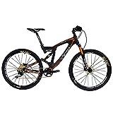 BEIOU Carbon Dual Suspension Mountain Bicycles All Terrain 26' / 27.5 Inch MTB 650B Bike Shimano DEORE 10 Speed/SLX M7000 11 Speed 12.7kg T700 Frame Matte 3K CB22