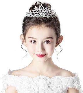 RKY Parte superiore delle ragazze, bambini copricapo corona parte superiore delle ragazze di cristallo Bambini festa di co...