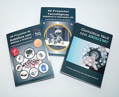 Pack 3 libros Arduino - Robótica y Domótica con 15% dto.