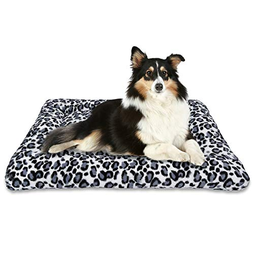 MIXJOY Dog Bed Crate Mat 30''/36''/42'' Washable Anti-Slip Kennel Pad for Large Medium Small Dogs and Cats (36-Inch)
