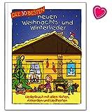 Los 30 mejores canciones de Navidad y de invierno - Liederbuch con todas las notas, acordes y canciones - con Notenklammer