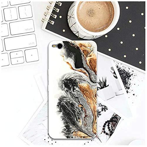 SSHELL For HTC uno U11 M7 M8 M9 M10 E9 más Deseo 530, 626, 628, 630, 816, 820 de móvil del TPU Estuches de teléfono diseño de mármol Ultraslim (Color : Pattern 4, Size : For HTC Desire 630)