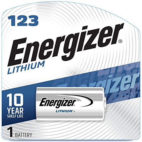 Energizer 123 Lithium Batteries, 3V CR123A Lithium Photo Batteries (1 Battery Count)