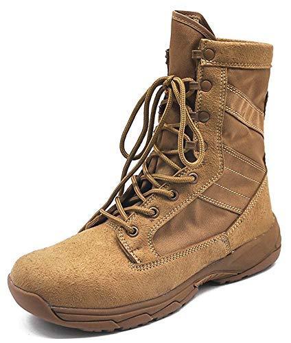 Militärstiefel Für Männer Outdoor Armee Schuhe Taktische Stiefel Reißverschluss Ultraleichte Kampfstiefel Wüstenstiefel-brown-EU45/US12/UK11