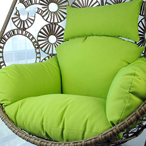 ZXL Swing Chair Cushion,Toby Wicker rattan Hanging egg Chair padsOutdoor Patio Balcony Lounge Multiple colour-F 120x85x15cm(47x33x6inch)
