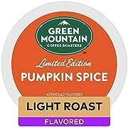 Green Mountain Coffee Roasters Pumpkin Spice, Single-Serve Keurig K-Cup Pods, Flavored Light Roast Coffee, 24 Count
