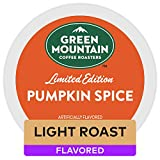 Green Mountain Coffee Roasters Pumpkin Spice, Single-Serve Keurig K-Cup Pods, Flavored Light Roast Coffee, 24 Count