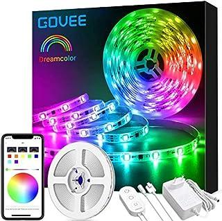 Govee Tiras LED RGBIC 5m, IC Incorporada con APP Multicolor, Luces LED Flexible para Navidad, Habitación, Bar, Fiesta
