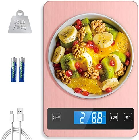 HOWEIFULL Kitchen Scale for Baking Cooking 33lb 15kg Digital Food Balance Scale with 1g 0 04oz product image