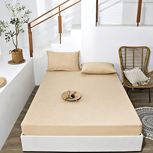 Protector de colchón,Algodón Lavable Funda de colchón Transpirable Paquete Completo de 360 °Capa Impermeable de TPU,Conoce Todos los Tipos de Camas,C,90 * 200cm