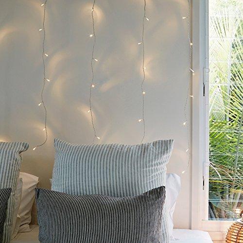 40er LED Lichtervorhang warmweiß 1m x 1m 31V Lights4fun