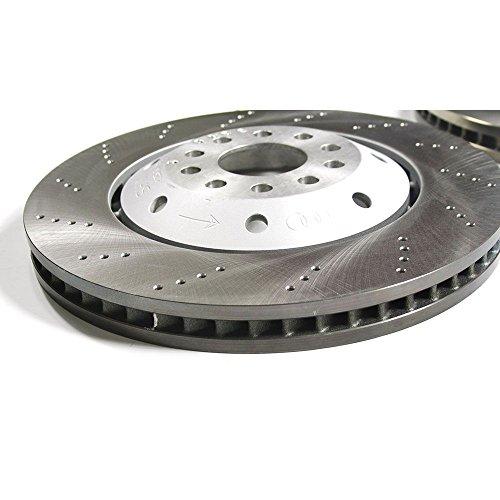 Original Audi Bremsscheiben RS6 (4B) Bremsen Vorderachse 4B3615301E 4B3615302A gelocht belüftet PR-Code 1LP