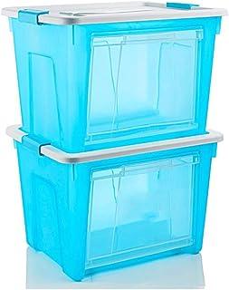 Corbeilles à linge Paniers à Linge Boîte de Rangement Transparente en Plastique 67 * 47 * 39.5cm de boîte de Rangement épa...