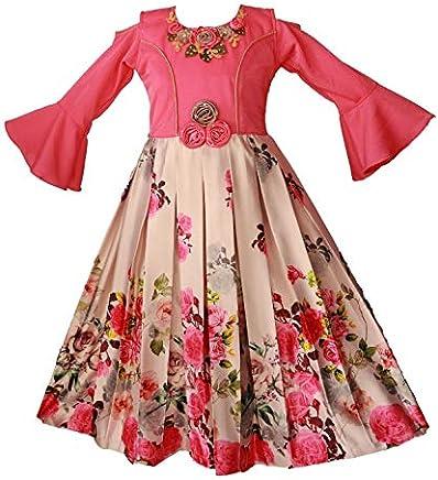 My Lil Princess Baby Girls Birthday Frock Dress_Bell Sleeves_3-10 Years