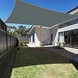 Ankuka Waterproof Sun Shade Sail Canopy Rectangle UV Block for Outdoor Patio and Garden, Yard Activities (8'X10', Grey)