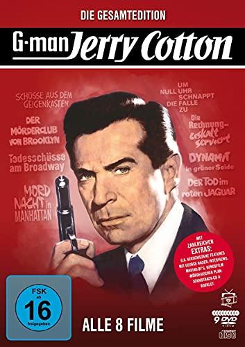 Jerry Cotton - Die Gesamtedition: Alle 8 Filme (Filmjuwelen) [9 DVDs] (inkl. Soundtrack-CD)