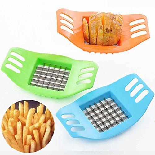 Omkuwl Trancheuse à pommes de terre en acier inoxydable Coupe-trancheuses Coupe-frites