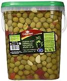 Gourmet, Aceituna verde Siciliana (Hueso partidas aliñadas con ajo) - 5000 gr.