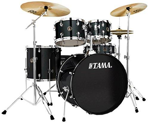 Tama RM52KH6-BK Rhythm Mate Schlagzeug Set (5-teilig) mit 55,8 cm (22 Zoll) Bassdrum inkl. dreiteiligem Beckenset/6-teiliger Hardware schwarz