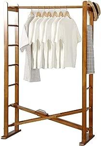 Coat Racks Entryway Wood Foldable Clothing Garment Rack Rail Heavy Hallway Removable Shoes Hats Scarf Storage Organiser B