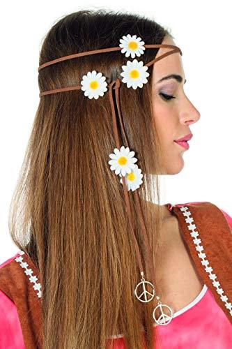 Wilbers NEU Haarband braun, Peace & Blumen