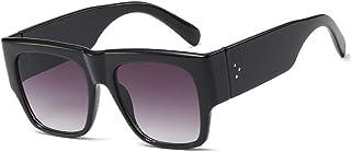 SHEEN KELLY Lunettes de soleil carrées rétro pour femmes Lunettes de soleil surdimensionnées lunettes de soleil pastic UV400