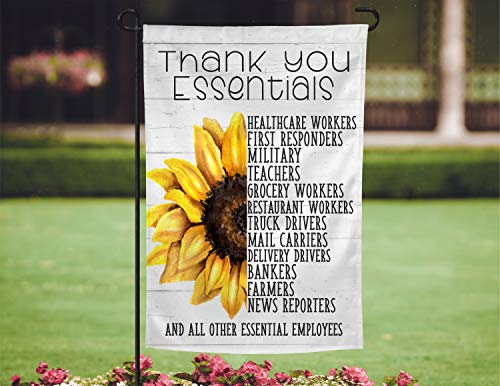 'N/A' Thank You Essential Worker Garden Flag, Thank You Hero Garden Flag, Quarantine Garden Flag, Yard Flag, Inspirational Flag, Hero Flag 12.5'×18.5' Yard Flag