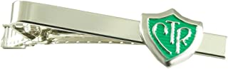 Johnson Brothers CTR Silver and Green Tie Bar