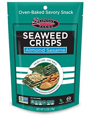 Almond Sesame Sea Salt Seaweed Crisps - Seapoint Farms (1.2 oz Pack of 12)