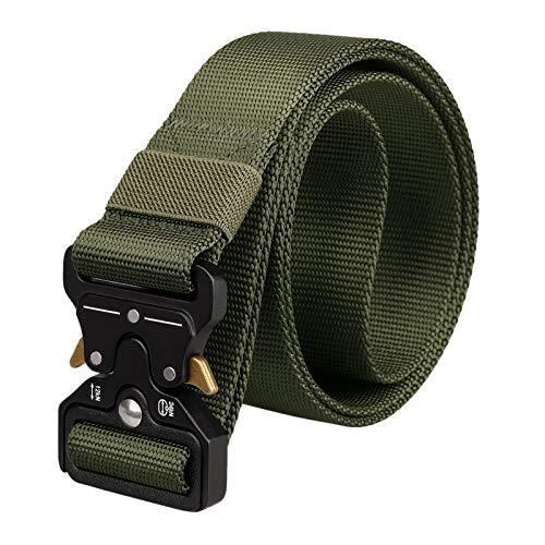 BAIGIO Cintura Tattica Nylon con Fibbia Cobra Uomo Cintura Militare Fibbia a Sgancio Rapido in Metallo per Sport all'Aria Aperta Lavoro,125x3.8cm