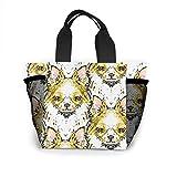 Long Haired Chihuahua Bolso mujer moda bolsa bolsas reutilizables para la compra luz bolsos a mano alta capacidad...