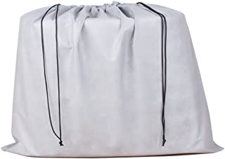 2 Piece Non-woven Breathable Dust-proof Drawstring Storage Pouch (Gray)