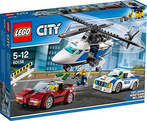 LEGO Cos City Polizia - Señal de Alta Velocidad con avión