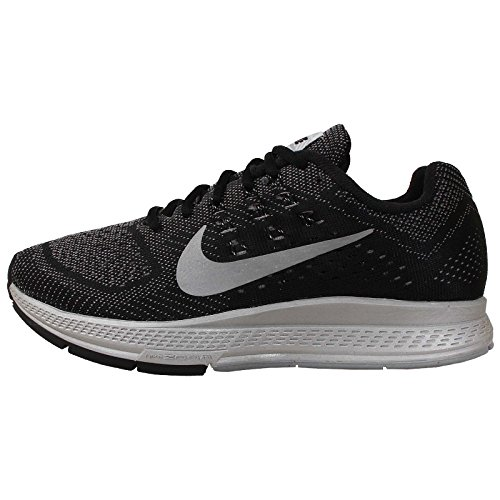 Nike Womens Zoom Structure 18 Flash Running Trainers 683937 Sneakers Shoes (UK 6.5 US 9 EU 40.5, Cool Grey Reflective Silver Black 001)