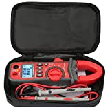 Multímetro digital de pinza amperimétrica, probador con voltaje de CA/CC, corriente alterna, resistencia, portátil, medidor profesional de mano, adecuado para pruebas y mantenimiento de equipos eléctr